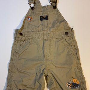 Oshkosh boys khaki shorts overalls